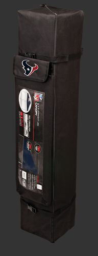Black carry case of a 9x9 Houston Texans canopy with a team logo on the side compartment - SKU: 03231093112