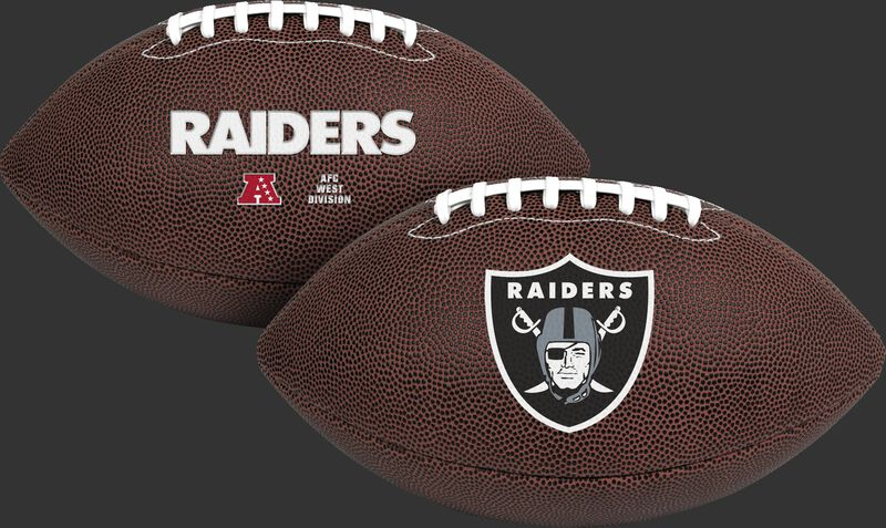 NFL Oakland Raiders Air-It-Out youth football with team name and logo SKU #08041072121