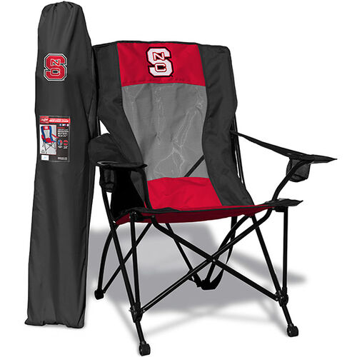 Front of Rawlings Red and Black NCAA North Carolina State Wolfpack High Back Chair With Team Logo SKU #09403041518