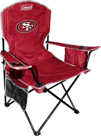 Front of Rawlings Red NFL San Francisco 49ers Chair With Team Logo SKU #02771084111