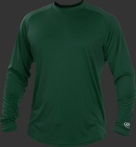 Dark Green YLSRT Youth crew neck long sleeve shirt