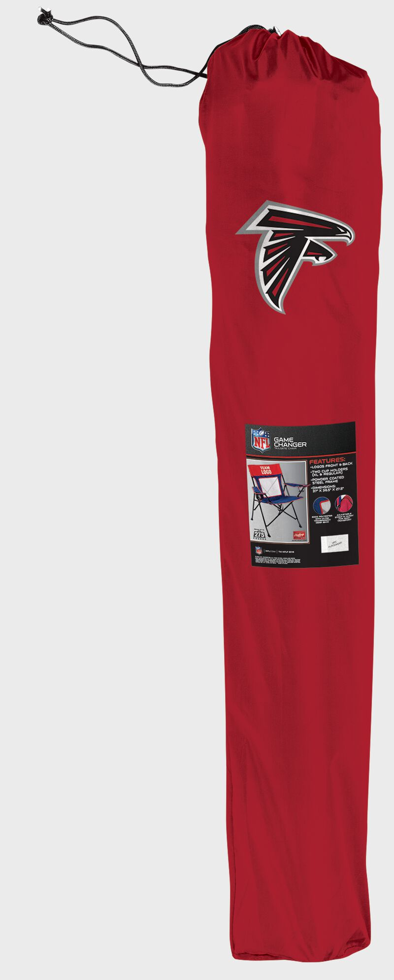 An Atlanta Falcons Game Changer chair in its carry case