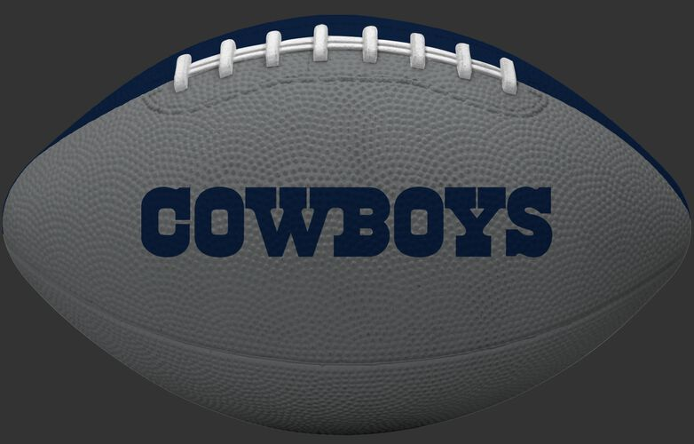 Silver side of a Dallas Cowboys rubber Gridiron football with team name SKU #09501065121