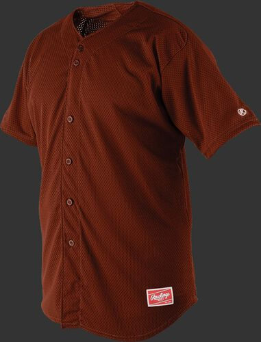 Front of Rawlings Cardinals Adult Short Sleeve Jersey  - SKU #RBJ167