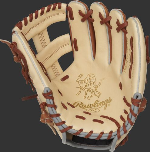 PROTT2-20CGB Rawlings ColorSync 4.0 infield glove with a came palm and tan laces