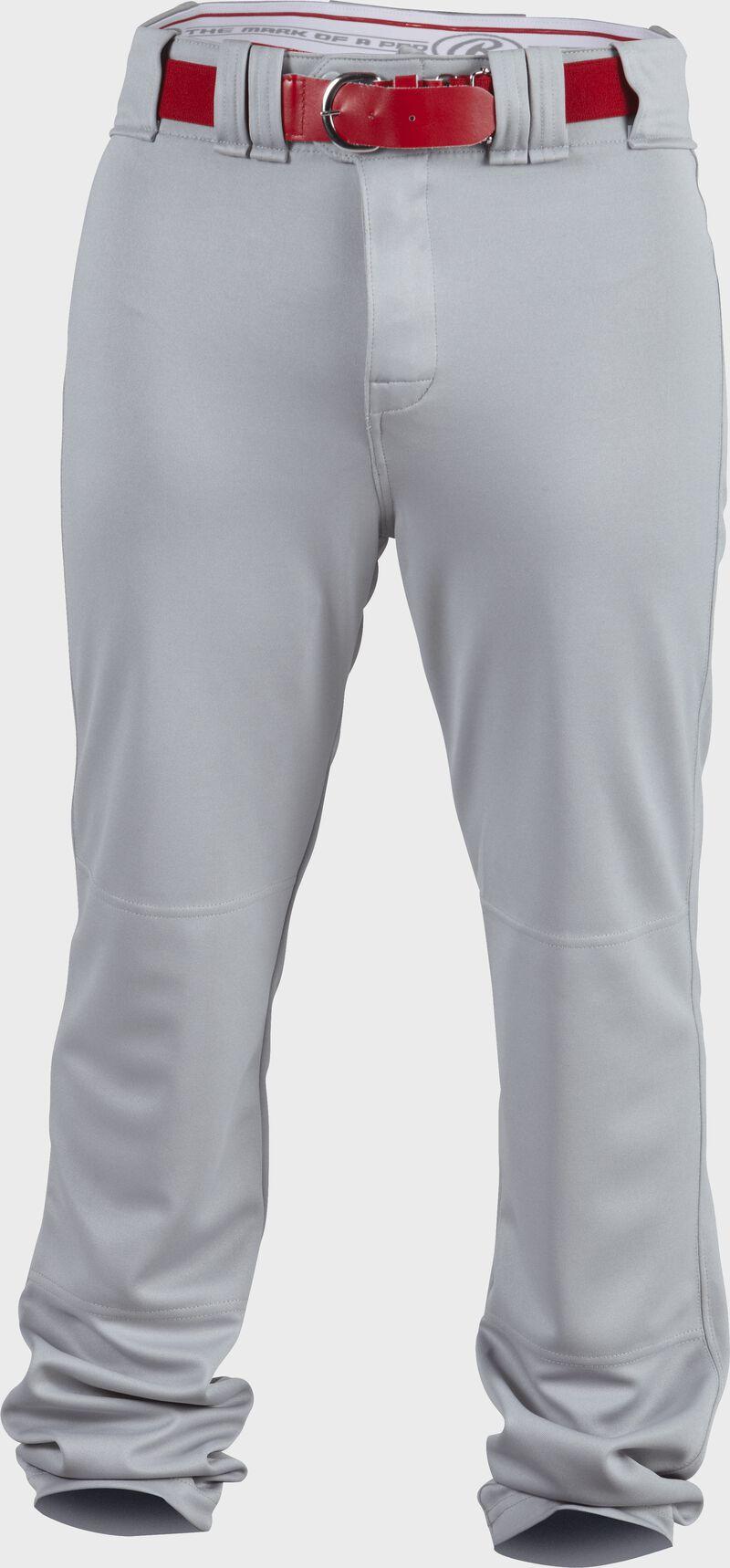 Front of Rawlings Blue Gray Adult Premium Straight Baseball Pant - SKU #PPU140