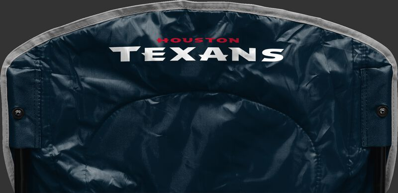 Back of Rawlings Navy Blue NFL Houston Texans Chair With Team Name SKU #02771093111