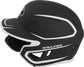 Left side of a MACHEXTR junior Rawlings batting helmet with a two-tone matte black/white shell image number null