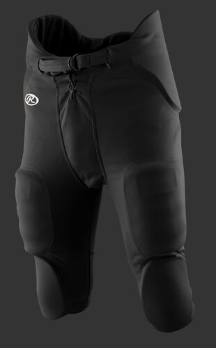 Front of Rawlings Black Adult Integrated Football Pant - SKU #F3500P