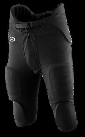 Front of Rawlings Black Adult Integrated Football Pant - SKU #F3500P