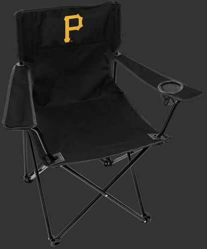 Front of Rawlings Black MLB Pittsburgh Pirates Gameday Elite Chair With Team Logo SKU #06110021111