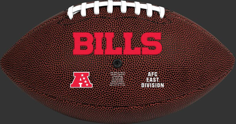 NFL Buffalo Bills Football With Team Name in Red SKU #07081061811