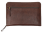 Back of a brown Rawlings rugged portfolio with a zippered compartment - SKU: V614-200 image number null