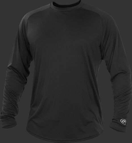 Black YLSRT Youth crew neck long sleeve shirt