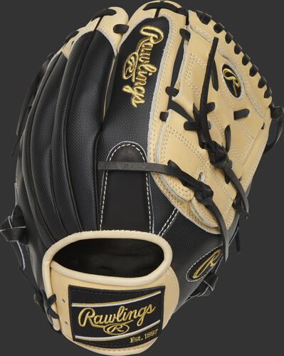 PRO206-9BCSS Rawlings 12-inch infield/pitcher's glove with a black Speed Shell back