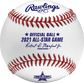 A 2021 Rawlings MLB commemorative All-Star game baseball with the 2021 ASG logo and red/blue stitching - SKU: EA-ASBB21CR-R image number null