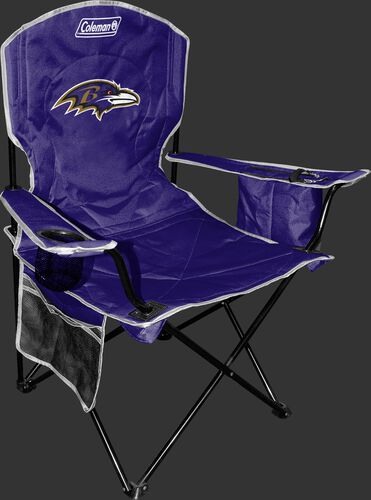 Front of Rawlings Purple NFL Baltimore Ravens Chair With Team Logo SKU #02771092111