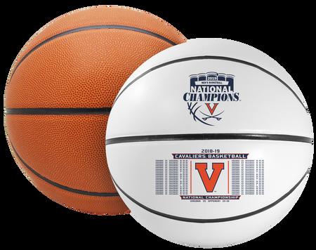 2019 NCAA National Champions Virginia Cavaliers Full Size Basketball