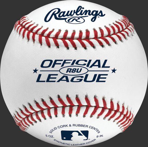 R8U recreational youth baseball with raised seams