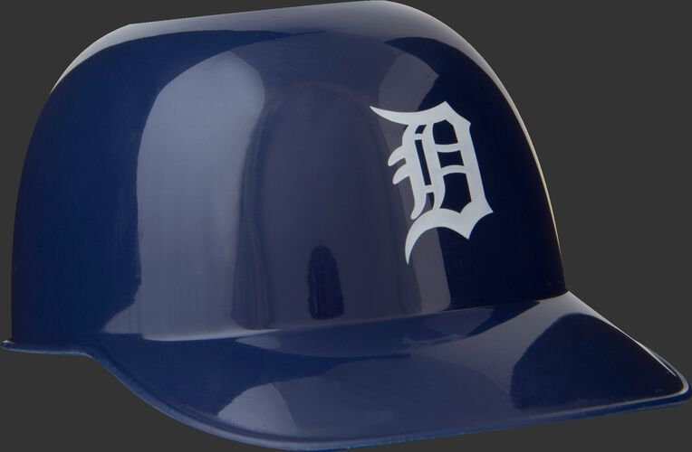 Front of Rawlings Navy Blue MLB Detroit Tigers Snack Size Helmets With Team Logo SKU #01950027121