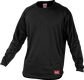 Front of Rawlings Black Youth Long Sleeve Shirt - SKU #YUDFP3-B-88