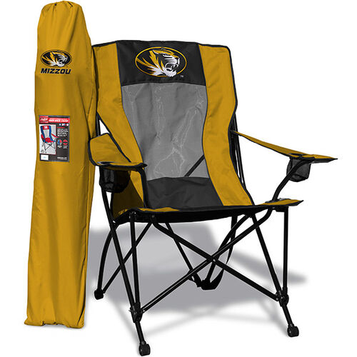 Front of Rawlings Yellow and Black NCAA Missouri Tigers High Back Chair With Team Logo SKU #09403086518