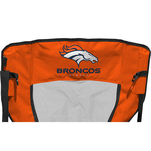 Back of Rawlings Navy and Orange NFL Denver Broncos High Back Chair With Team Name SKU #09211066518