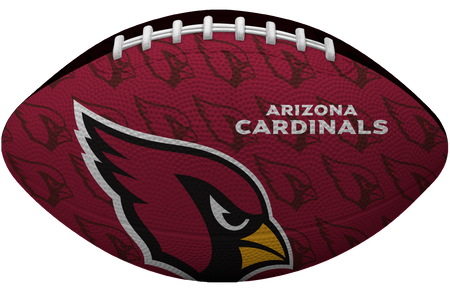 Red side of a NFL Arizona Cardinals Gridiron football with the team logo