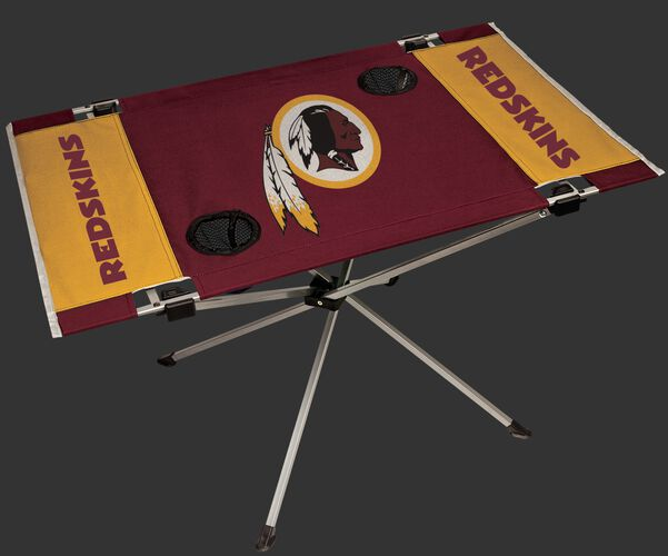 Rawlings Burgundy and Gold NFL Washington Redskins Endzone Table With Two Cup Holders, Team Logo, and Team Name SKU #03391087111