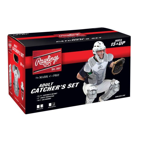 Velo Adult Catchers Set White/Silver