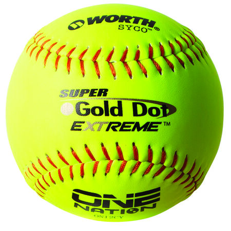 One Nation 12 in Gold Dot Softballs (ON12CY)