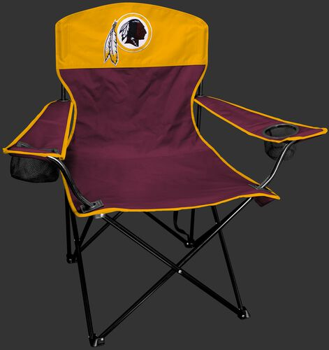 Front of Rawlings Maroon and Yellow NFL Washington Redskins Lineman Chair With Team Logo SKU #31021087111