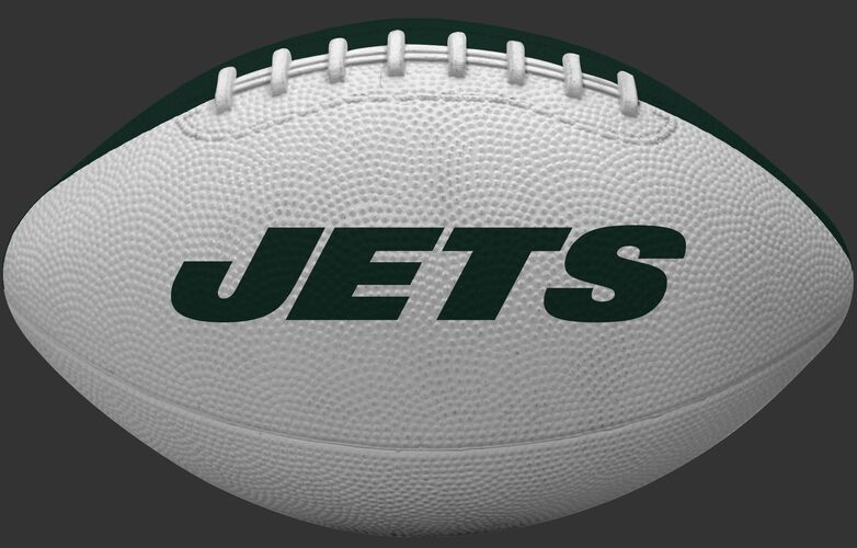 White side of a New York Jets Gridiron tailgate football with team name SKU #09501079122