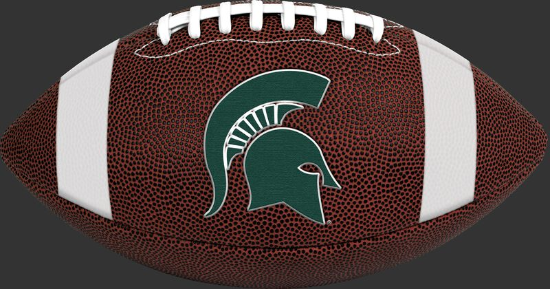 Brown NCAA Michigan State Spartans Football With Team Logo SKU #04623038811