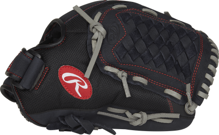 R120BGS Renegade 12-inch infield softball glove with a black thumb and black Basket web