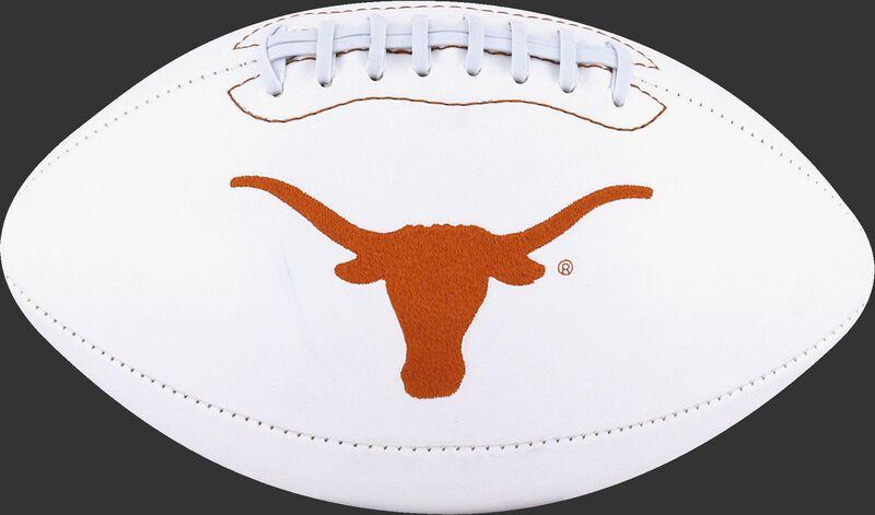 White NCAA Texas Longhorns Football With Team Logo SKU #05733103121