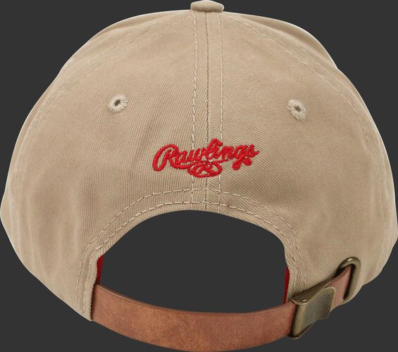 Back of Rawlings Women's Change Up Khaki Baseball Stitch Oval-R Logo Hat - SKU #RC40000-252