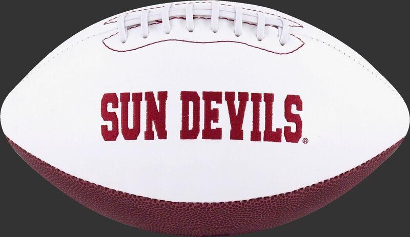 White NCAA Arizona State Sun Devils Football With Team Name SKU #05733001122