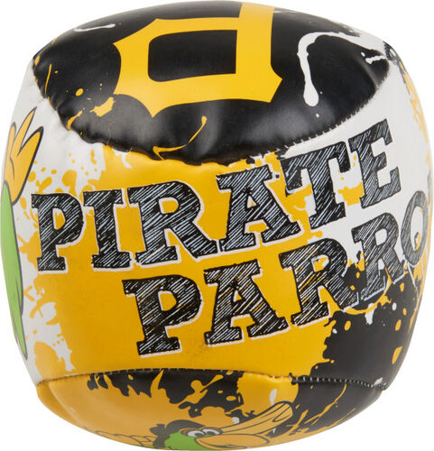 Top of Rawlings Pittsburgh Pirates Quick Toss 4'' Softee Baseball With Team Mascot Name On Front In Team Colors SKU #01320021112