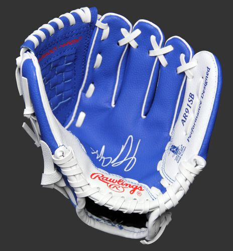 MLBPA Anthony Rizzo 9-inch player glove with a blue palm