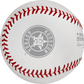 Houston Astros logo stamped on a ALCS19CHMP 2019 American League Champions commemorative baseball image number null