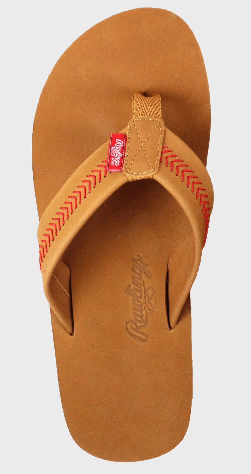 Men's Baseball Stitch Nubuck Leather Sandals