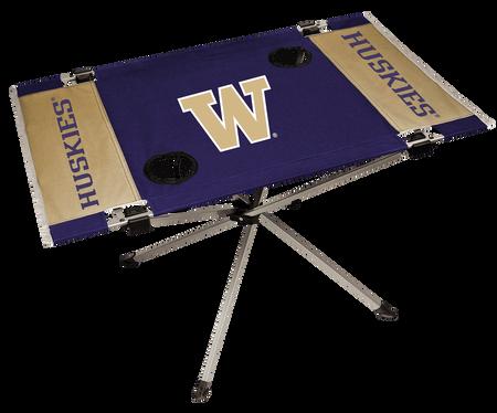 NCAA Washington Huskies Endzone table featuring team colors and team logos