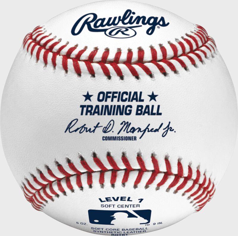 A Rawlings Official League level 1 training baseball - SKU: ROTB1