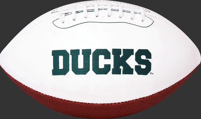 White NCAA Oregon Ducks Football With Team Name SKU #05733095121