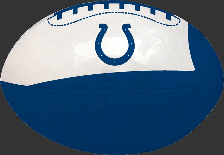 Blue and White NFL Indianapolis Colts Football With Team Logo SKU #07831070114