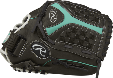 ST1150FPM Storm 11.5-inch infield glove with a black thumb and black/mint Funnel web