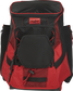 Front of a scarlet/black R600 Players team backpack image number null