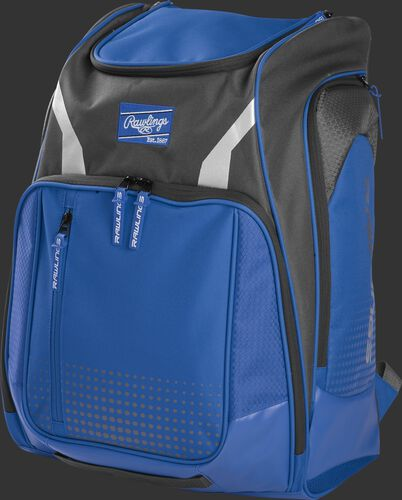 Front angle view of a royal Legion equipment backpack - LEGION-R
