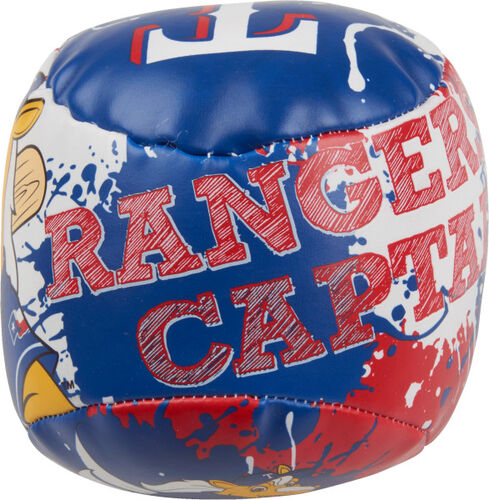 Top of Rawlings Texas Rangers Quick Toss 4'' Softee Baseball With Team Mascot Name On Front In Team Colors SKU #01320022112